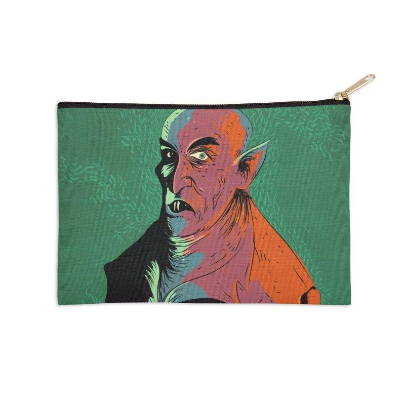 Nosferatu At Rest Accessories Zip Pouch by Zerostreet's Artist Shop