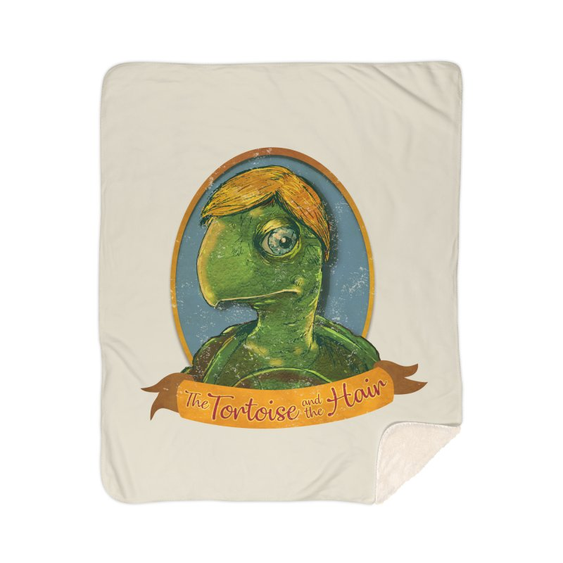 The Tortoise And The Hair Home Sherpa Blanket Blanket by Zero Street's Artist Shop