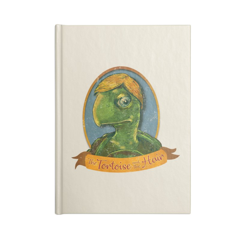 The Tortoise And The Hair Accessories Blank Journal Notebook by Zero Street's Artist Shop