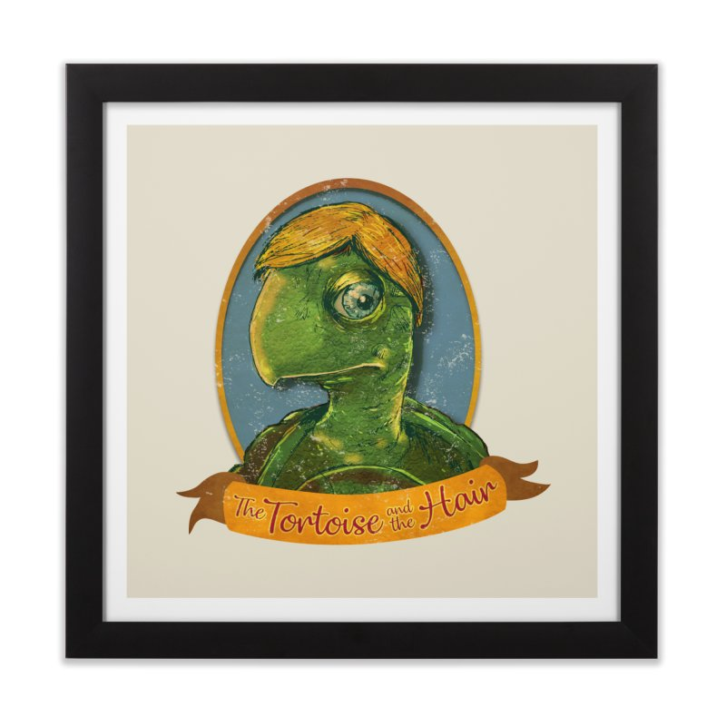 The Tortoise And The Hair Home Framed Fine Art Print by Zerostreet's Artist Shop