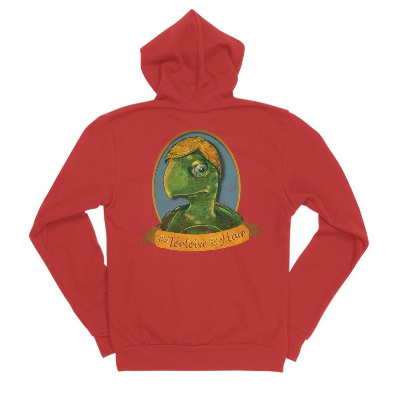 The Tortoise And The Hair Women's Sponge Fleece Zip-Up Hoody by Zerostreet's Artist Shop