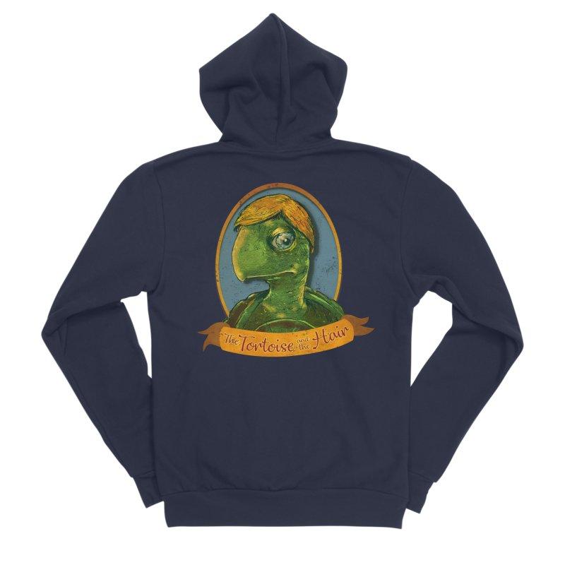 The Tortoise And The Hair Men's Sponge Fleece Zip-Up Hoody by Zerostreet's Artist Shop