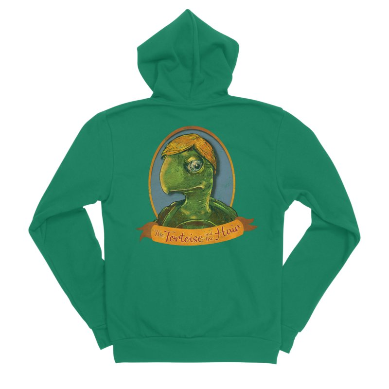 The Tortoise And The Hair Women's Sponge Fleece Zip-Up Hoody by Zero Street's Artist Shop