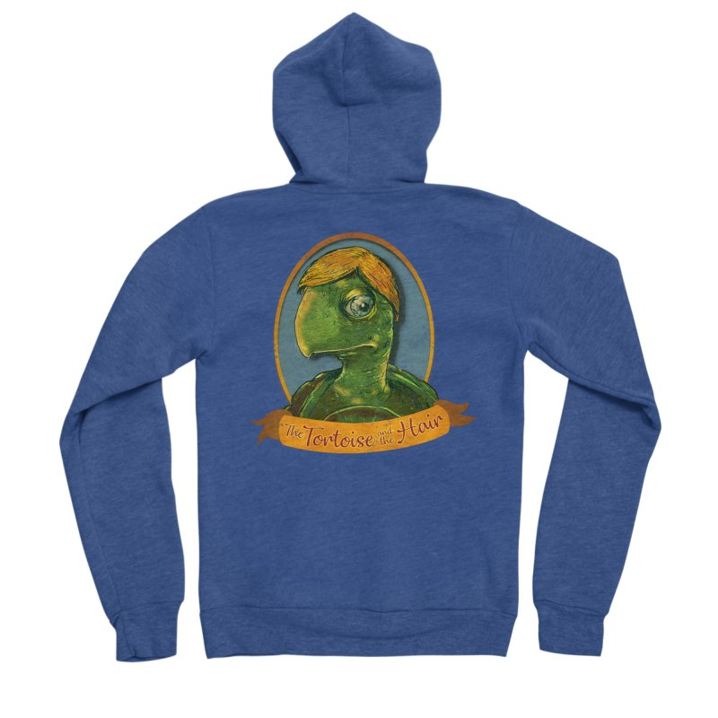 The Tortoise And The Hair Men's Sponge Fleece Zip-Up Hoody by Zero Street's Artist Shop