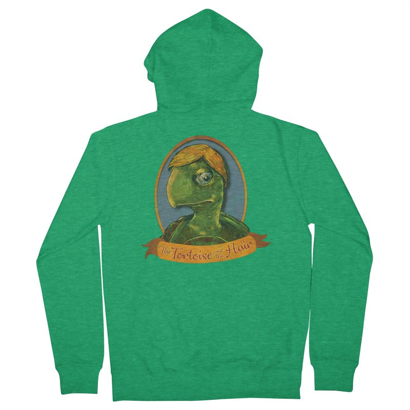 The Tortoise And The Hair Women's French Terry Zip-Up Hoody by Zerostreet's Artist Shop