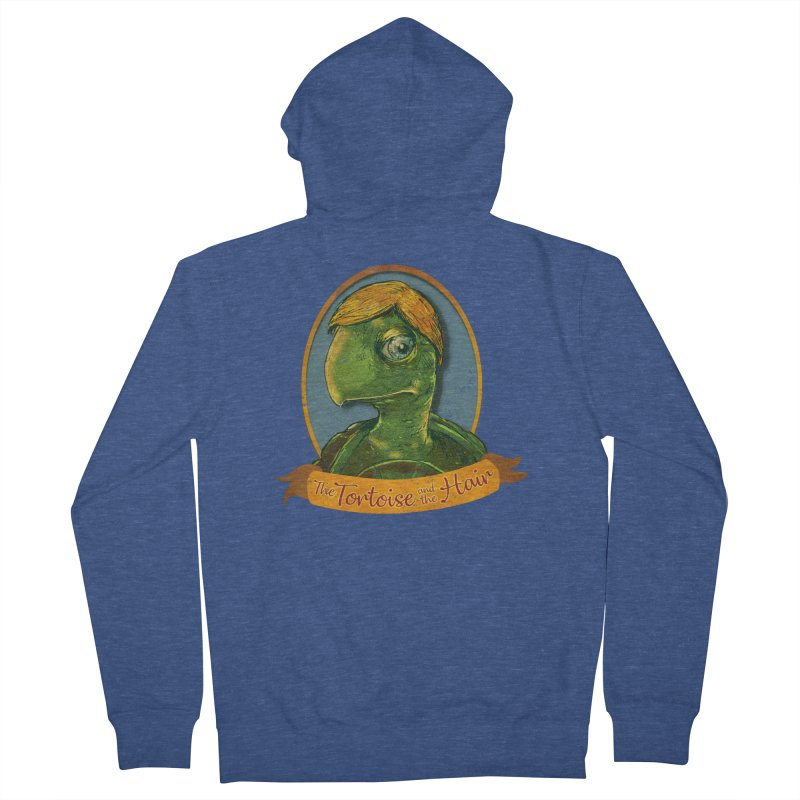 The Tortoise And The Hair Men's French Terry Zip-Up Hoody by Zerostreet's Artist Shop