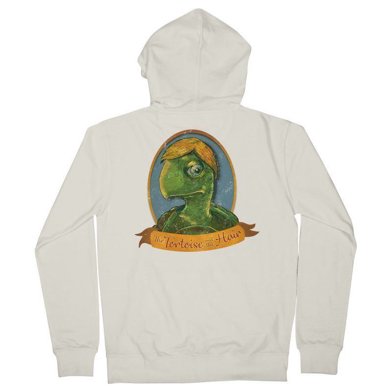 The Tortoise And The Hair Men's French Terry Zip-Up Hoody by Zero Street's Artist Shop