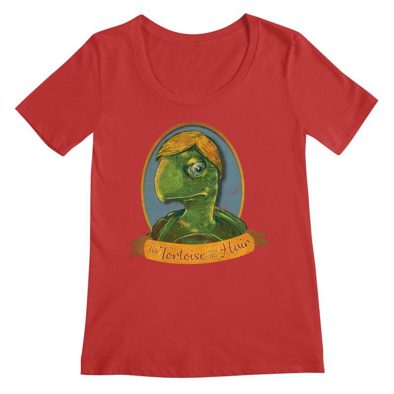 The Tortoise And The Hair Women's Regular Scoop Neck by Zerostreet's Artist Shop
