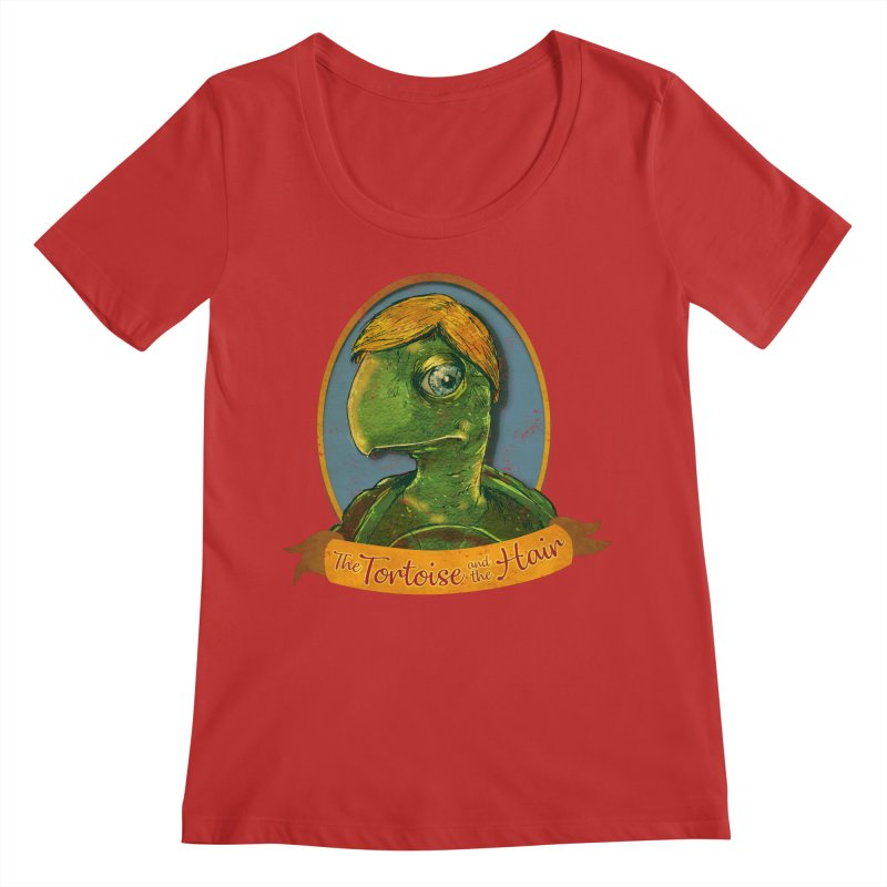 The Tortoise And The Hair Women's Regular Scoop Neck by Zerostreet's Artist Shop