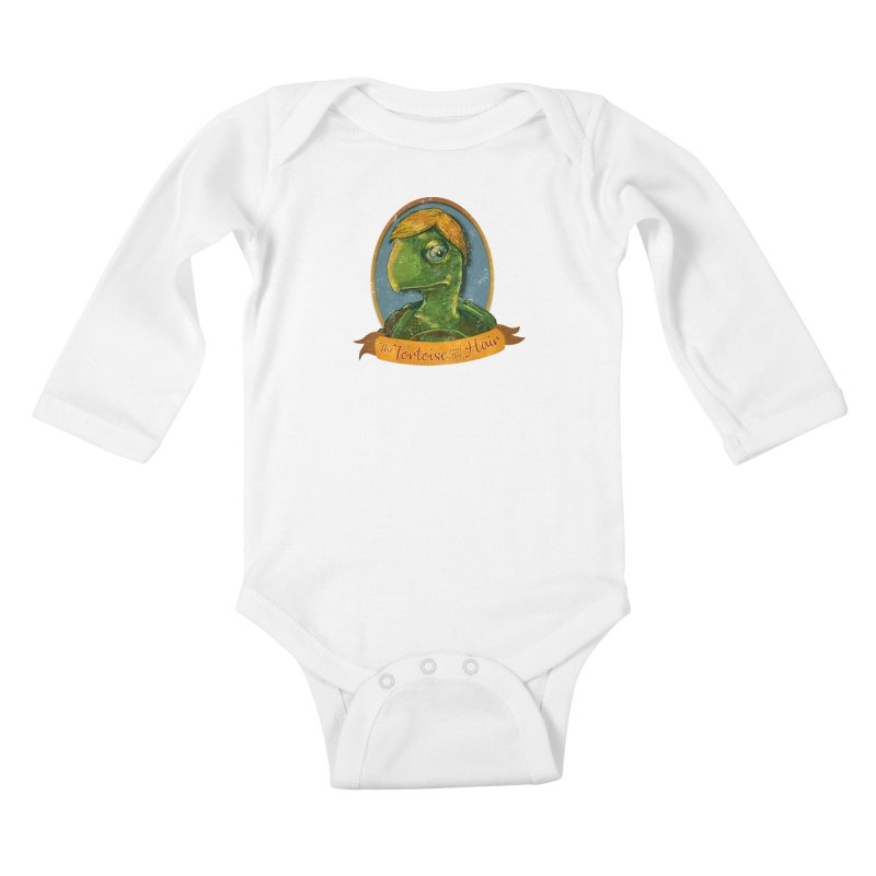 The Tortoise And The Hair Kids Baby Longsleeve Bodysuit by Zerostreet's Artist Shop
