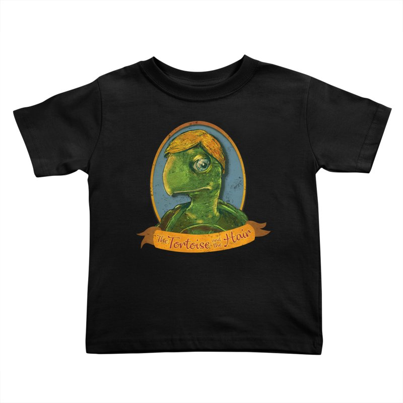The Tortoise And The Hair Kids Toddler T-Shirt by Zero Street's Artist Shop