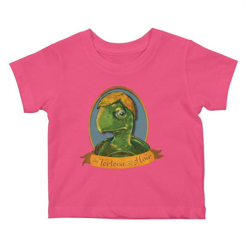 The Tortoise And The Hair Kids Baby T-Shirt by Zerostreet's Artist Shop