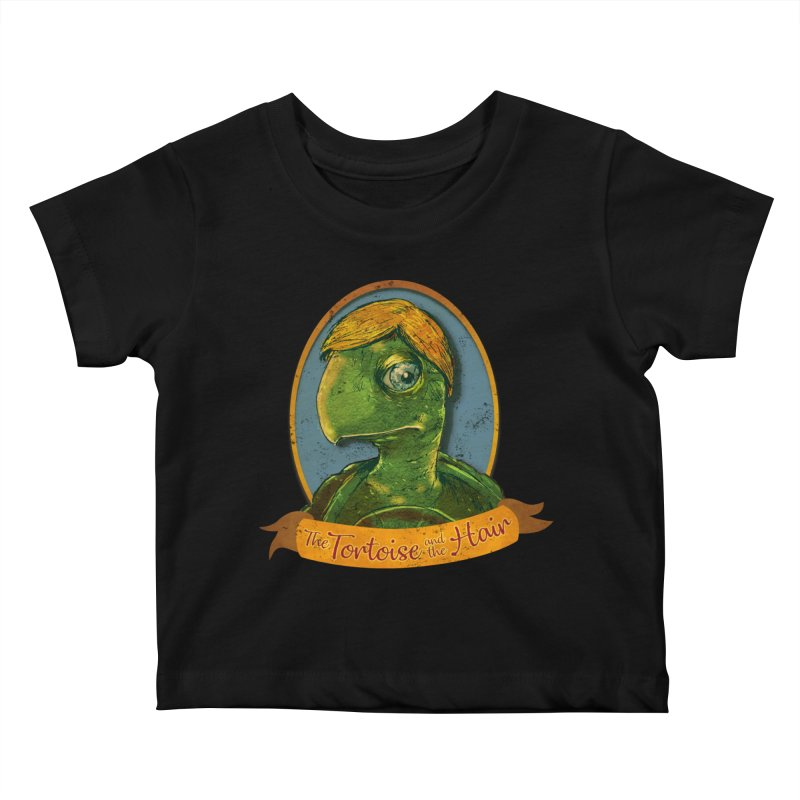 The Tortoise And The Hair Kids Baby T-Shirt by Zero Street's Artist Shop