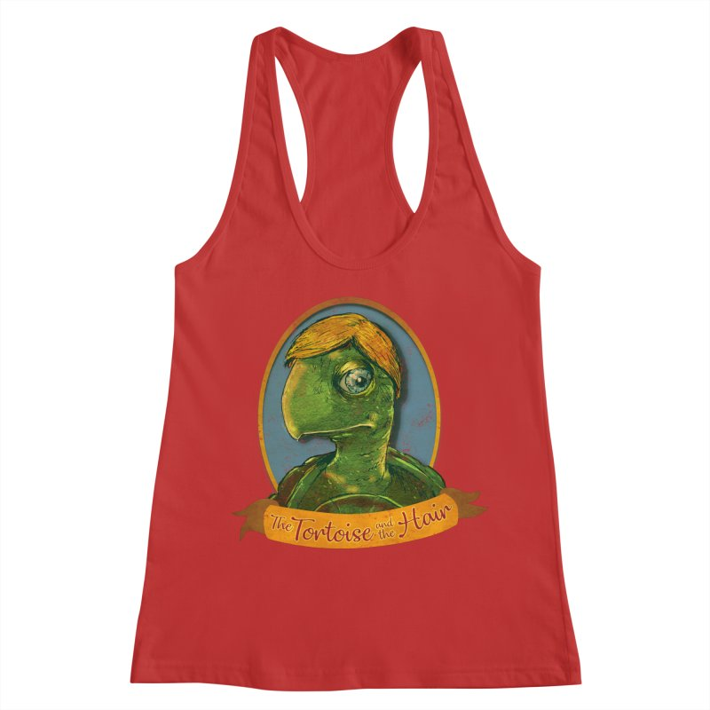 The Tortoise And The Hair Women's Racerback Tank by Zerostreet's Artist Shop