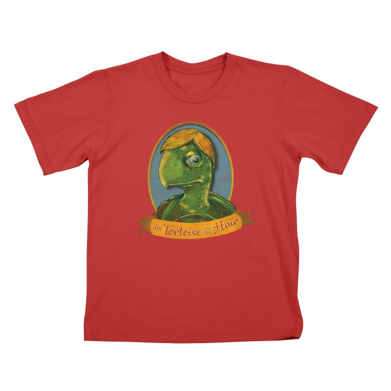 The Tortoise And The Hair Kids T-Shirt by Zerostreet's Artist Shop