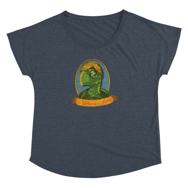 The Tortoise And The Hair Women's Dolman Scoop Neck by Zerostreet's Artist Shop