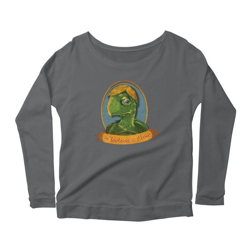 The Tortoise And The Hair Women's Scoop Neck Longsleeve T-Shirt by Zerostreet's Artist Shop