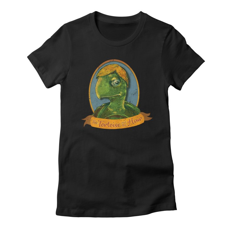 The Tortoise And The Hair Women's Fitted T-Shirt by Zerostreet's Artist Shop