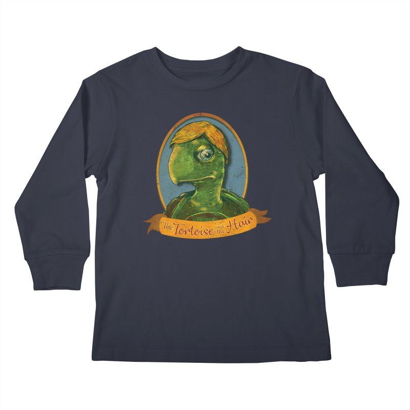 The Tortoise And The Hair Kids Longsleeve T-Shirt by Zero Street's Artist Shop