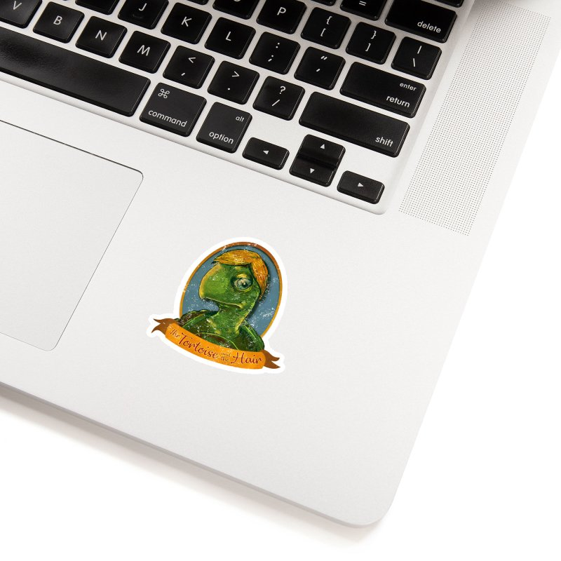 The Tortoise And The Hair Accessories Sticker by Zero Street's Artist Shop