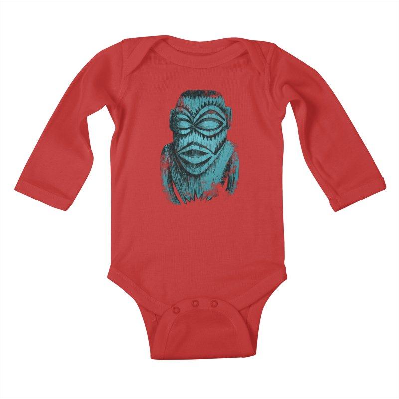 Tangaroa #3 Kids Baby Longsleeve Bodysuit by Zerostreet's Artist Shop