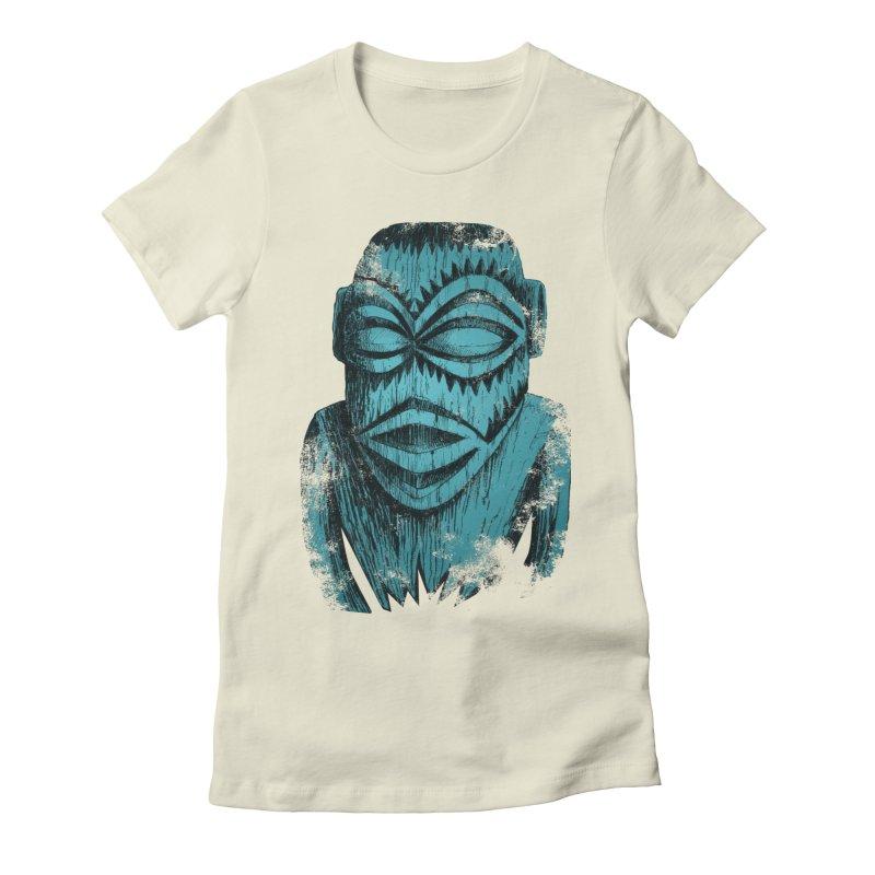 Tangaroa #3 Women's Fitted T-Shirt by Zerostreet's Artist Shop