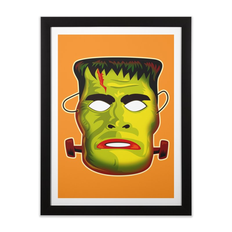 Monster Mask Home Framed Fine Art Print by Zerostreet's Artist Shop