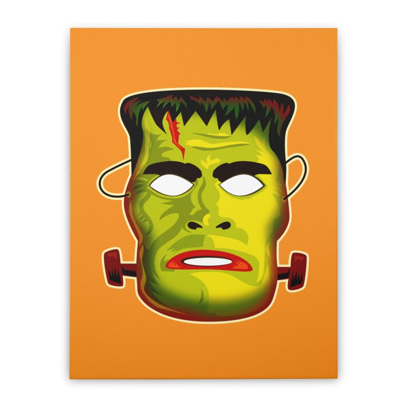 Monster Mask Home Stretched Canvas by Zerostreet's Artist Shop
