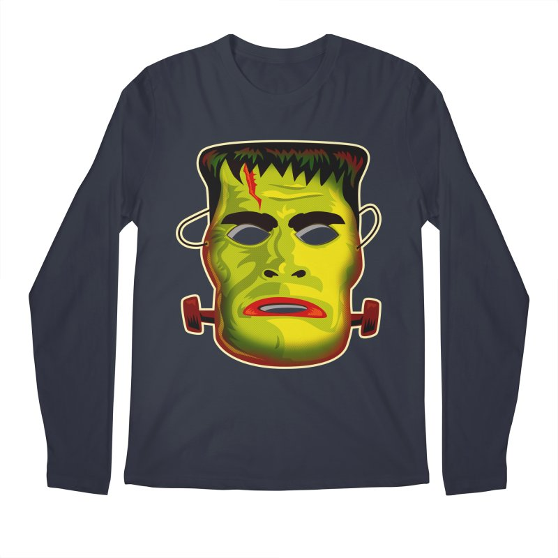 Monster Mask Men's Longsleeve T-Shirt by Zerostreet's Artist Shop