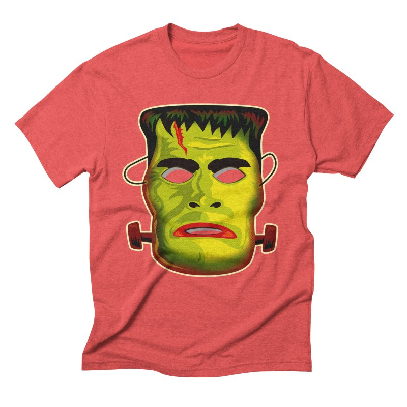 Monster Mask Men's Triblend T-Shirt by Zerostreet's Artist Shop