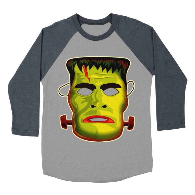 Monster Mask Women's Baseball Triblend T-Shirt by Zerostreet's Artist Shop