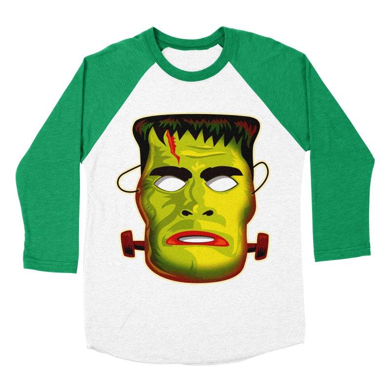 Monster Mask Men's Baseball Triblend T-Shirt by Zerostreet's Artist Shop