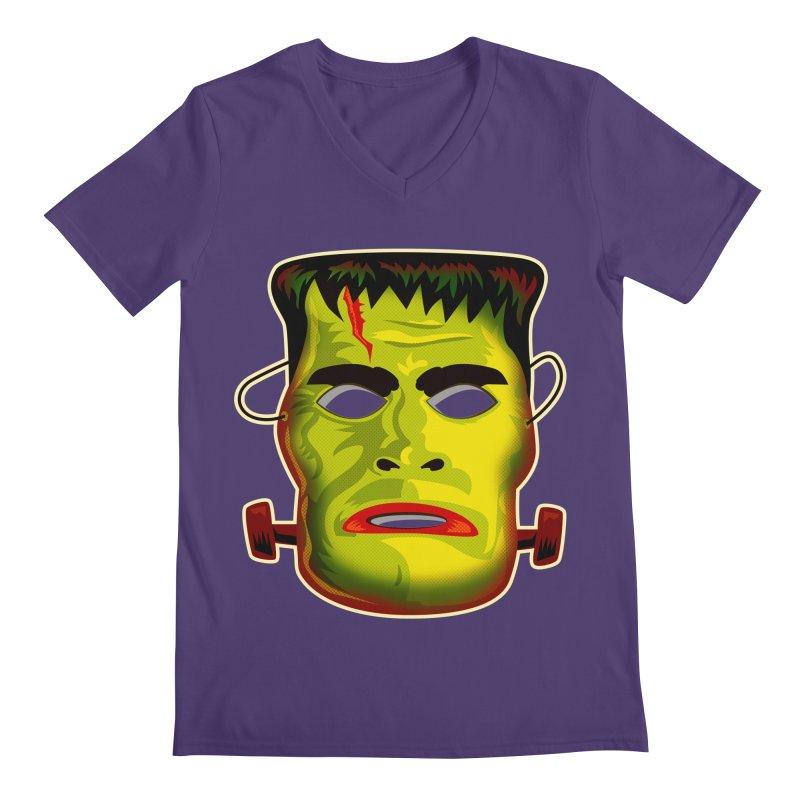 Monster Mask Men's V-Neck by Zerostreet's Artist Shop