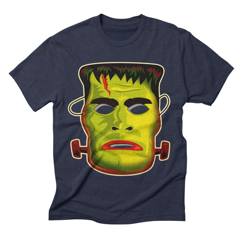 Monster Mask Men's Triblend T-shirt by Zerostreet's Artist Shop