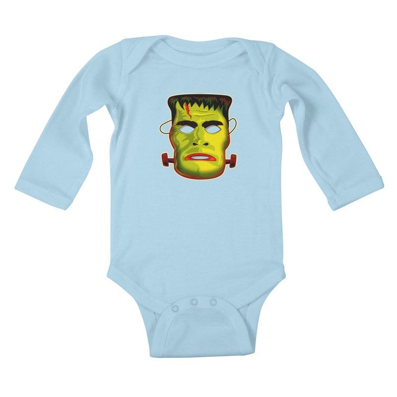 Monster Mask Kids Baby Longsleeve Bodysuit by Zerostreet's Artist Shop