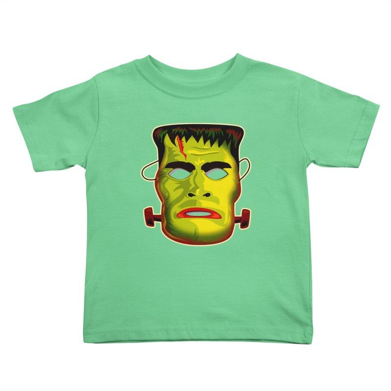 Monster Mask Kids Toddler T-Shirt by Zerostreet's Artist Shop