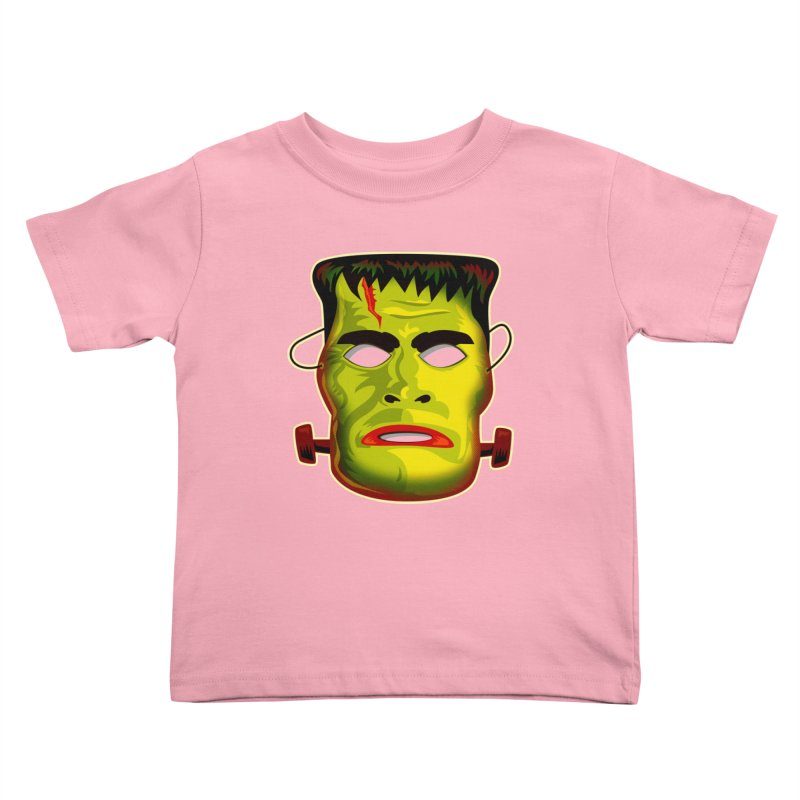 Monster Mask Kids Toddler T-Shirt by Zerostreet's Artist Shop