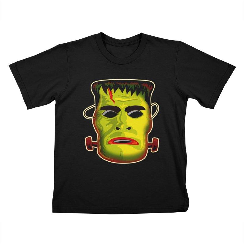 Monster Mask Kids T-Shirt by Zerostreet's Artist Shop