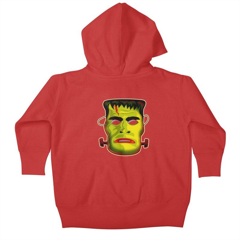 Monster Mask Kids Baby Zip-Up Hoody by Zerostreet's Artist Shop