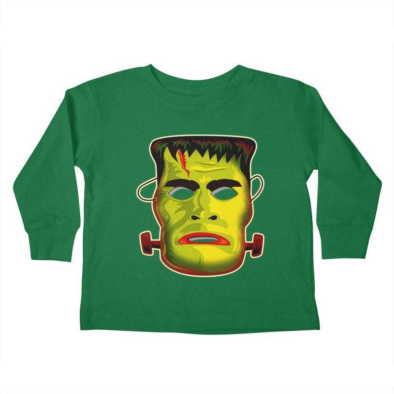 Monster Mask Kids Toddler Longsleeve T-Shirt by Zerostreet's Artist Shop