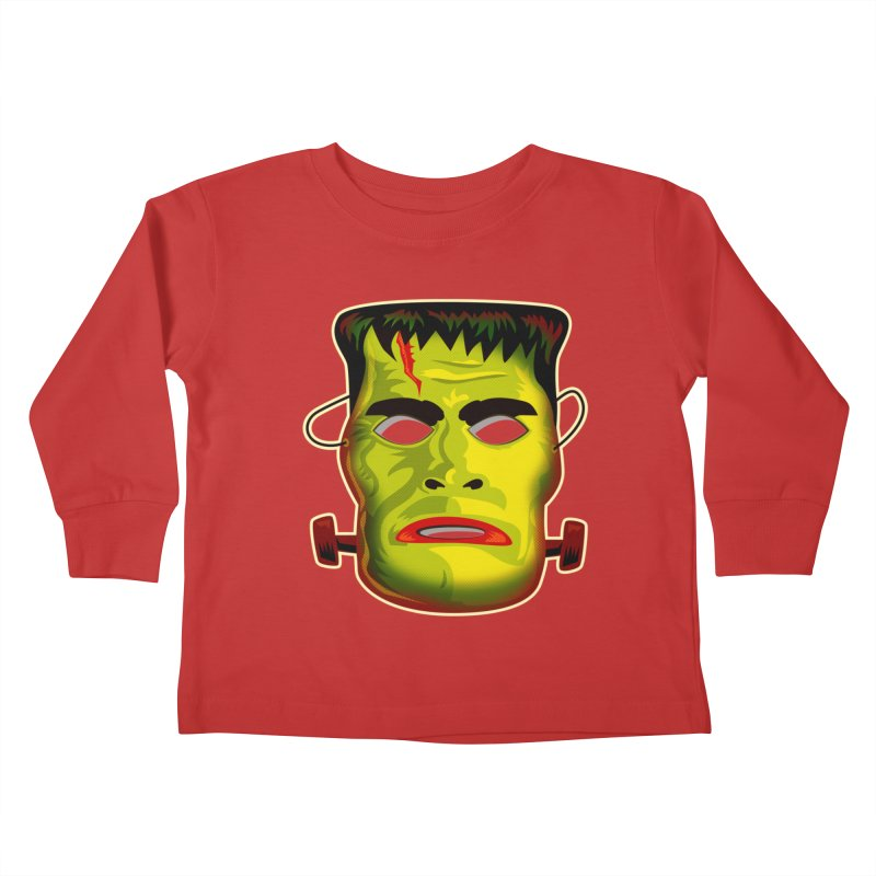 Monster Mask Kids Toddler Longsleeve T-Shirt by Zerostreet's Artist Shop