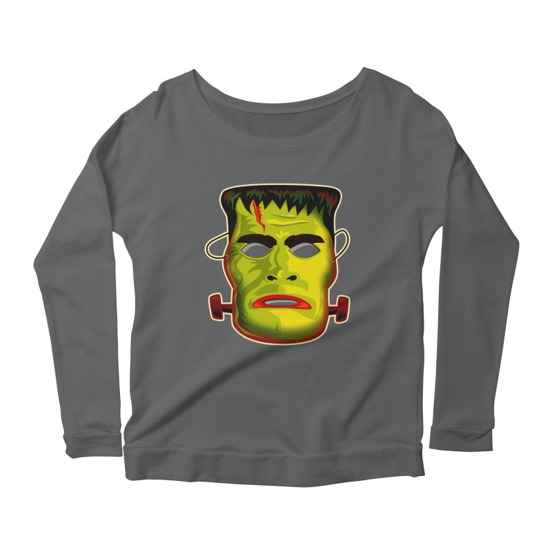 Monster Mask Women's Longsleeve Scoopneck  by Zerostreet's Artist Shop