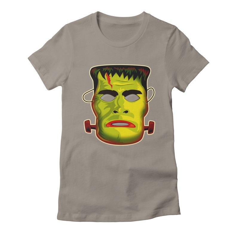 Monster Mask Women's Fitted T-Shirt by Zerostreet's Artist Shop