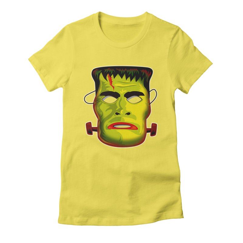 Monster Mask Women's Fitted T-Shirt by Zerostreet's Artist Shop