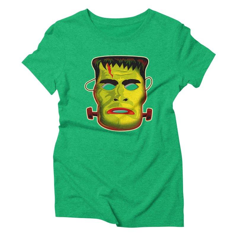 Monster Mask Women's Triblend T-Shirt by Zerostreet's Artist Shop