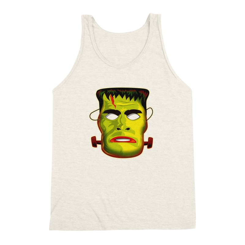 Monster Mask Men's Triblend Tank by Zerostreet's Artist Shop