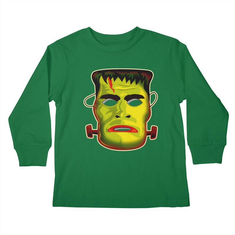 Monster Mask Kids Longsleeve T-Shirt by Zerostreet's Artist Shop