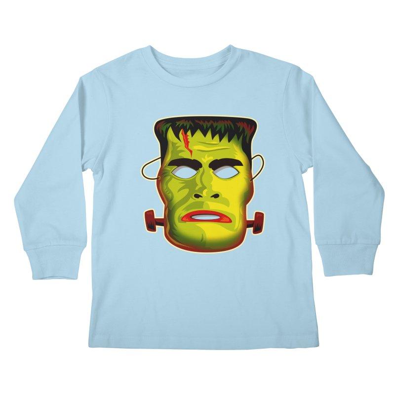 Monster Mask Kids Longsleeve T-Shirt by Zerostreet's Artist Shop