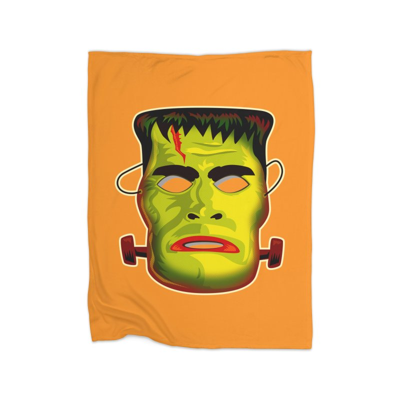Monster Mask Home Fleece Blanket by Zerostreet's Artist Shop
