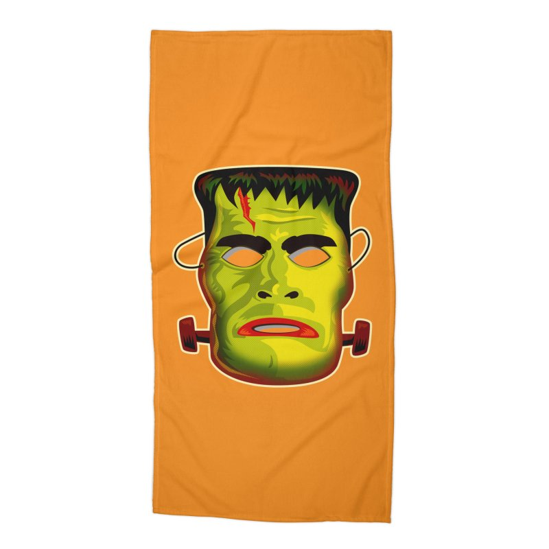 Monster Mask Accessories Beach Towel by Zerostreet's Artist Shop
